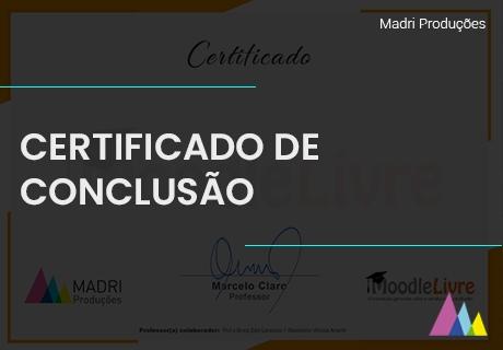 Customizamos e configuramos o certificado (certificado de conclusão)